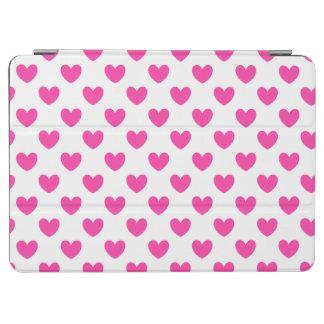 Protection iPad Air Coeurs roses fuchsia de polka sur le blanc