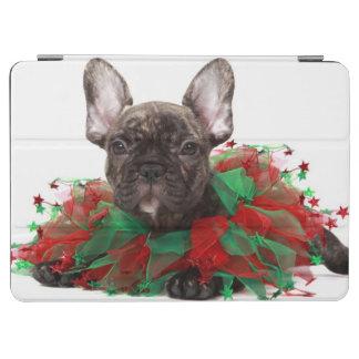 Protection iPad Air Collier de port de Noël de bouledogue français