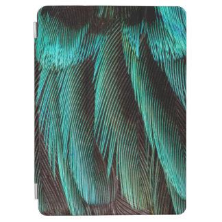 Protection iPad Air Conception bleue et noire de plume