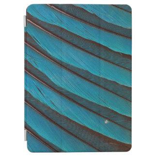 Protection iPad Air Conception de plume de rouleau Bleu-Gonflée par