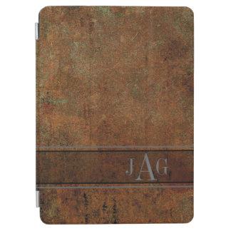 Protection iPad Air Conception grunge rustique de livre de Brown