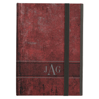 Protection iPad Air Conception rouge grunge rustique de livre