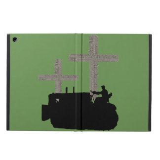 Protection iPad Air Croix chrétienne d'opérateur de bouteur faite à