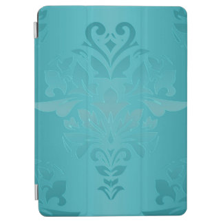 Protection iPad Air Damassé de grunge de turquoise