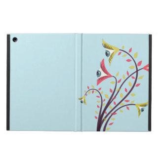 Protection iPad Air De fleurs colorées étranges avec les yeux