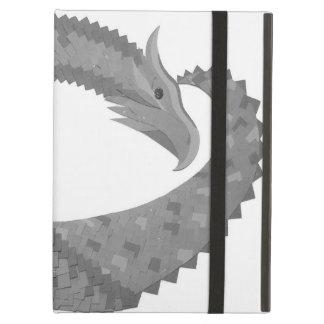 Protection iPad Air Dragon gris de coeur sur le blanc