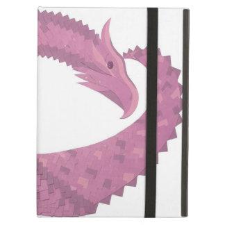 Protection iPad Air Dragon mauve de coeur sur le blanc