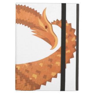 Protection iPad Air Dragon orange brûlé de coeur sur le blanc