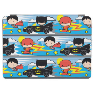 Protection iPad Air Éclair, Superman, et Batman de Chibi emballant le