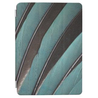 Protection iPad Air Éventée conception bleue de plume