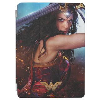 Protection iPad Air Femme de merveille bloquant avec l'épée