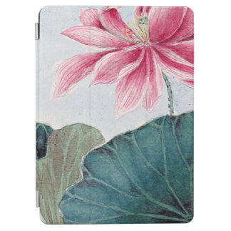 Protection iPad Air Fleur de Lotus, pétales, feuille - vert rose