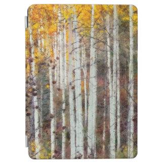 Protection iPad Air Forêt brumeuse de bouleau