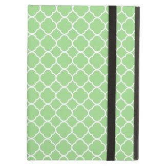 Protection iPad Air Forme de Quatrefoil (tuiles de Quatrefoil) - blanc
