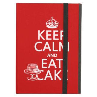 Protection iPad Air Gardez le calme et mangez le gâteau