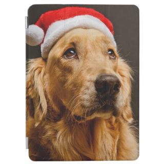 Protection iPad Air Golden retriever posant pour son Noël