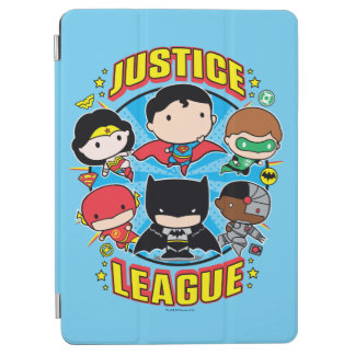 Protection iPad Air Groupe de ligue de justice de Chibi