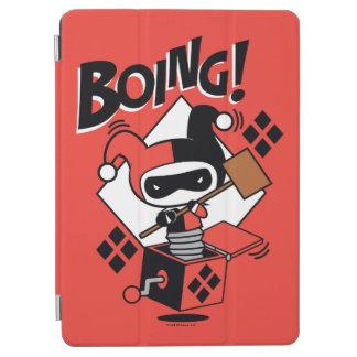 Protection iPad Air Harley-Quinn-Dans-UN-Box de Chibi avec le marteau