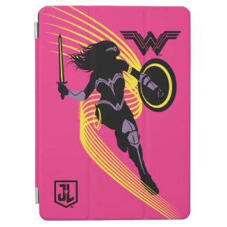 Protection iPad Air Icône de silhouette de femme de merveille de la
