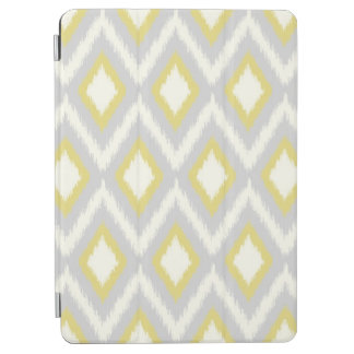 Protection iPad Air Ikat tribal gris et jaune Chevron