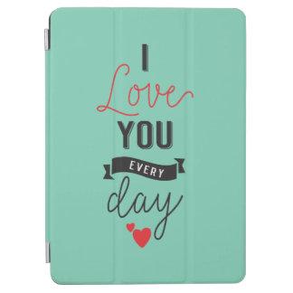 Protection iPad Air Je t'aime caisse quotidienne d'air d'iPad de