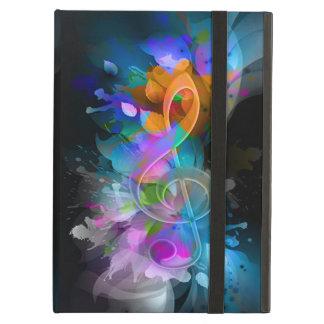 Protection iPad Air La belle éclaboussure fraîche colorée fleurit le f