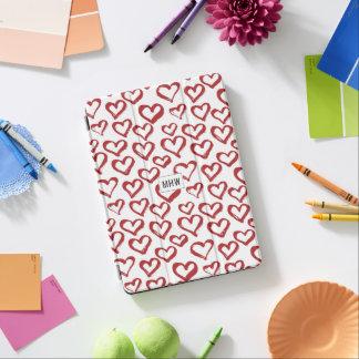 Protection iPad Air Le coeur gribouille les couvertures faites sur