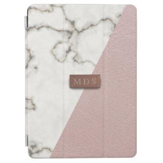 Protection iPad Air Le Faux rougissent couverture de marbre en cuir