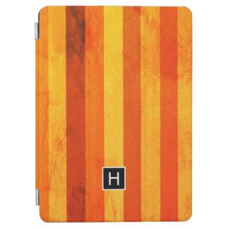 Protection iPad Air Le rouge orange patiné chaud barre le monogramme