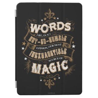 Protection iPad Air Les mots du charme | de Harry Potter sont notre la