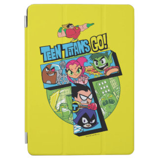 Protection iPad Air Les titans de l'adolescence vont ! collage de tour