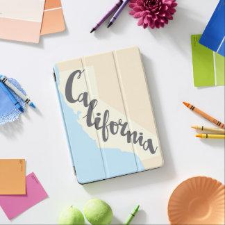Protection iPad Air Lettrage de brosse de la Californie avec la carte