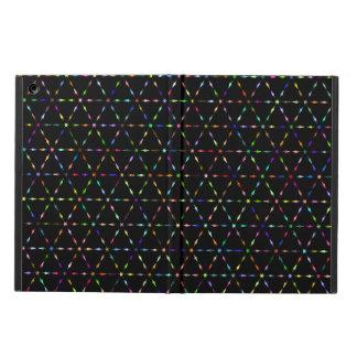 Protection iPad Air Lignes géométriques prismatiques caisse noire