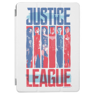 Protection iPad Air Ligue de justice art bleu et rouge de | de groupe