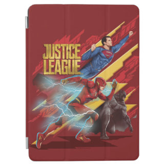 Protection iPad Air Ligue de justice | Superman, éclair, et insigne de
