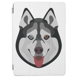 Protection iPad Air L'illustration poursuit le chien de traîneau