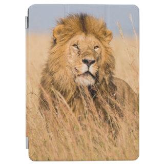 Protection iPad Air Lion masculin caché dans l'herbe