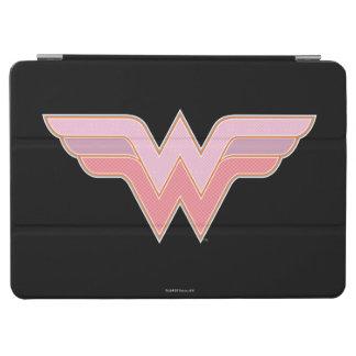 Protection iPad Air Logo rose et orange de femme de merveille de