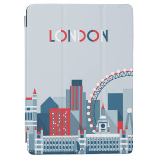 Protection iPad Air Londres, Angleterre horizon rouge, blanc et bleu