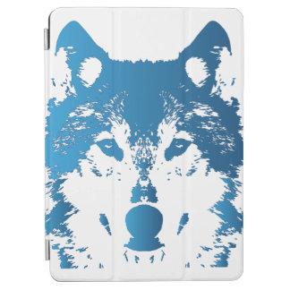 Protection iPad Air Loup de bleu glacier d'illustration