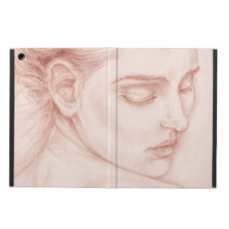 Protection iPad Air Madame victorienne Portrait Drawing