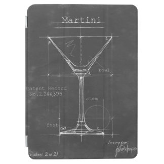 Protection iPad Air Modèle noir et blanc en verre de Martini