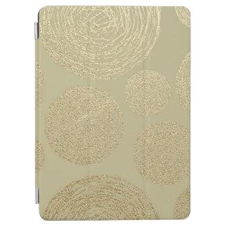 Protection iPad Air moderne, or, pois, métallique, élégant, chic, Han