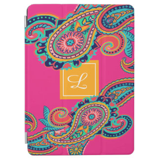 Protection iPad Air Monogramme lumineux de Paisley de rose