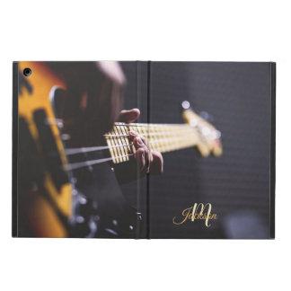 Protection iPad Air Monogramme noir et orange de guitare électrique