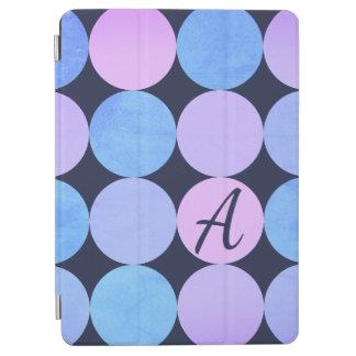 Protection iPad Air Monogramme pourpre et rose bleu de cercles