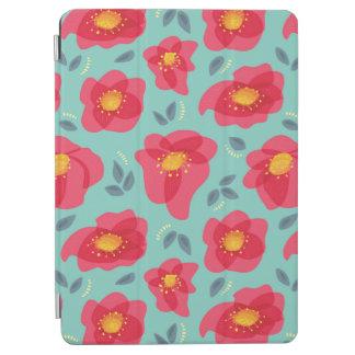 Protection iPad Air Motif assez floral avec les pétales roses lumineux