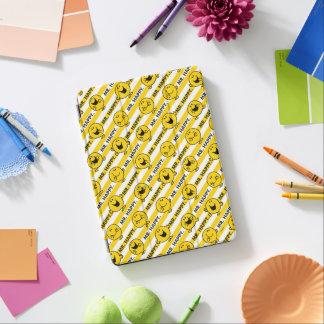 Protection iPad Air Motif jaune de rayures de M. Happy  