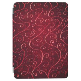 Protection iPad Air Motif rouge texturisé élégant lunatique de remous