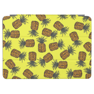 Protection iPad Air motif tropical peint à la main coloré d'ananas